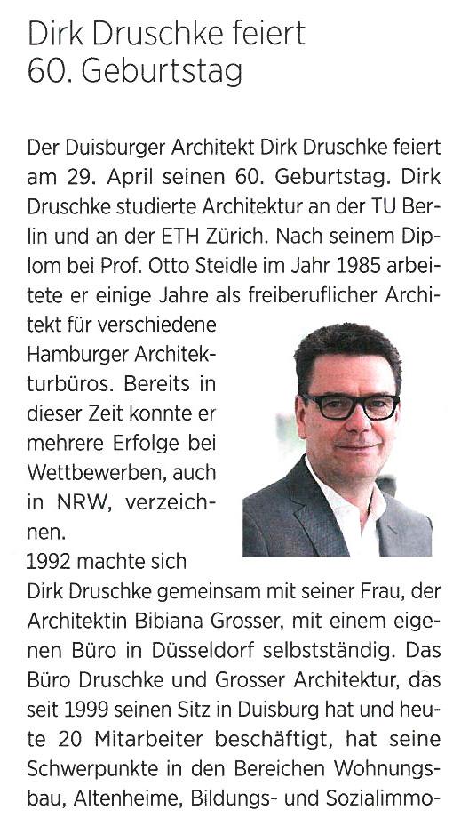 Herr Druschke wird 60!